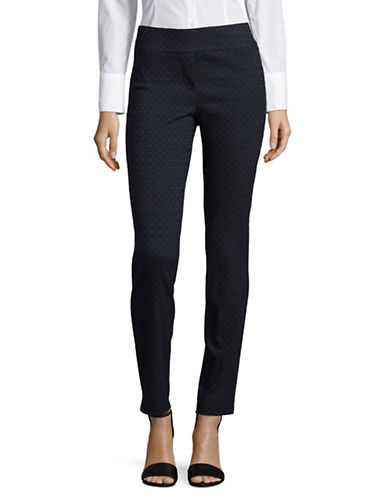 Imnyc Isaac Mizrahi Ankle Length Straight Pants-BLUE-X-Small