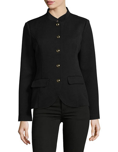 Imnyc Isaac Mizrahi Quilted Mariner Jacket-BLACK-Small