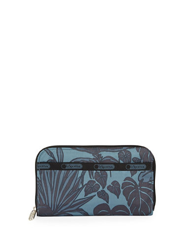 Lesportsac Lily Printed Wallet-MIDNIGHT GREEN-One Size