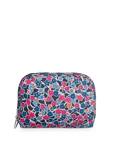 Lesportsac XL Rectangular Fruit Salad Cosmetics Pouch-NAVY BLUE-One Size