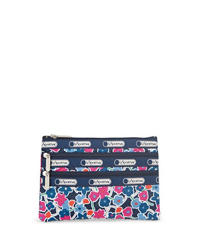 Lesportsac Three-Zip Cosmetic Pouch-NAVY MULTI-One Size