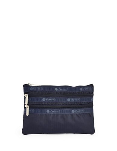 Lesportsac Three-Zip Cosmetic Pouch-NAVY-One Size
