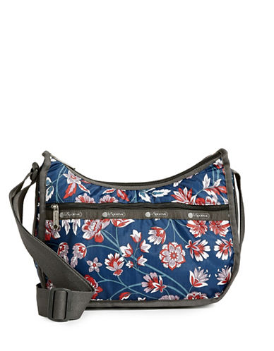 Lesportsac Classic Hobo Bag-BLUE FLORAL-One Size
