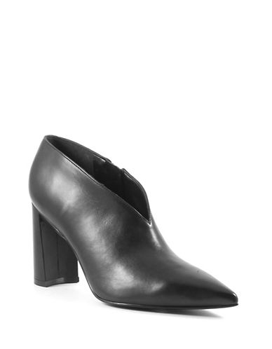 Marc Fisher Ltd Hoda Leather Booties-BLACK-7