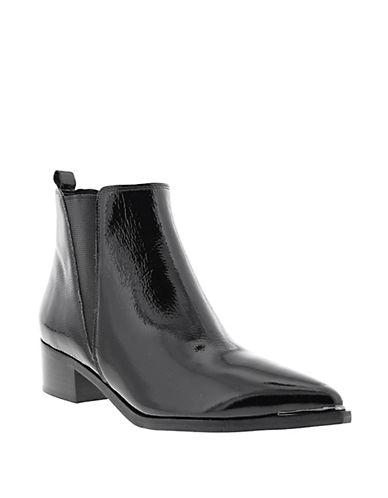 Marc Fisher Ltd Patent Chelsea Boots-BLACK-6.5