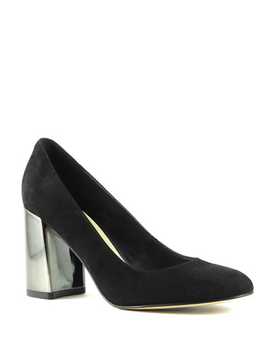 Marc Fisher Ilyssa Suede Pumps-BLACK-9
