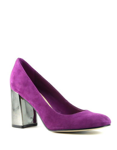 Marc Fisher Ilyssa Suede Pumps-PINK-9.5