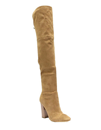 Guess Over-The-Knee Suede Boots-BLUSH-7