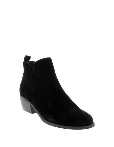 G By Guess Tammie 2 Velvet Booties-BLACK-8