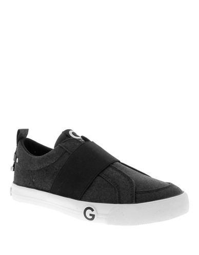G By Guess Ohlay Elastic Slip-On Sneakers-BLACK-9.5