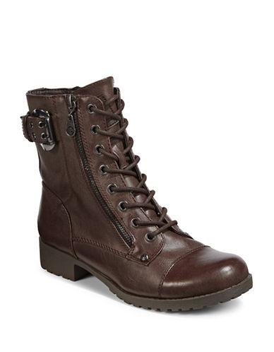 G By Guess Womens Brella Combat Boots-ESPRESSO-9