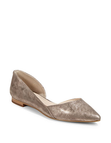 Marc Fisher Ltd Sunny Point Toe Flats-TAUPE-5.5