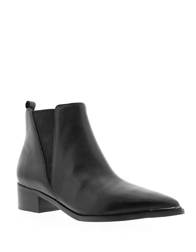 Marc Fisher Ltd Yellin Leather Chelsea Boots-BLACK-9