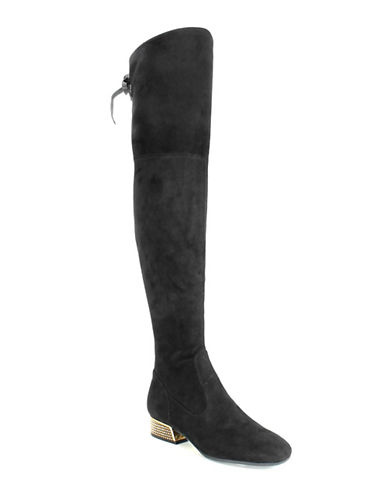 Guess Over-The-Knee Suede Boots-BLACK-7