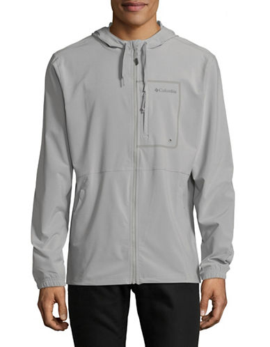 Columbia Zip-Up Hooded Jacket-GREY-Medium