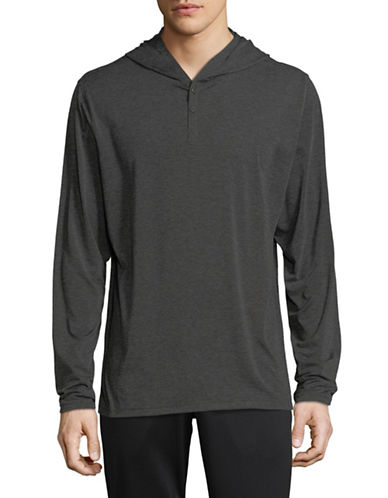 Columbia Long Sleeve Hooded Shirt-GREY-XX-Large