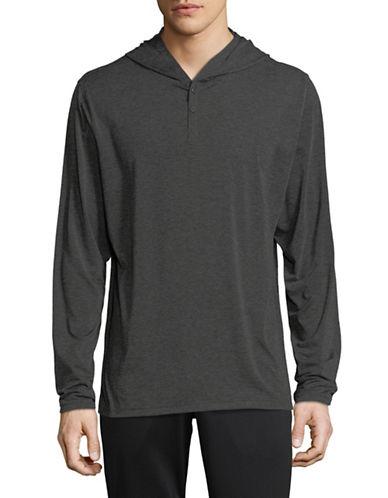 Columbia Long Sleeve Hooded Shirt-GREY-X-Large
