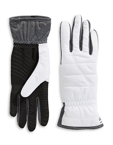 Ur Powered Quilted Nylon Glove-WHITE-S/M