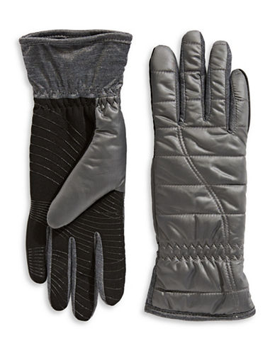 Ur Powered Quilted Nylon Glove-GREY-L/XL