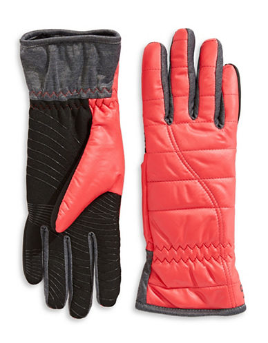 Ur Powered Quilted Nylon Glove-PINK-S/M