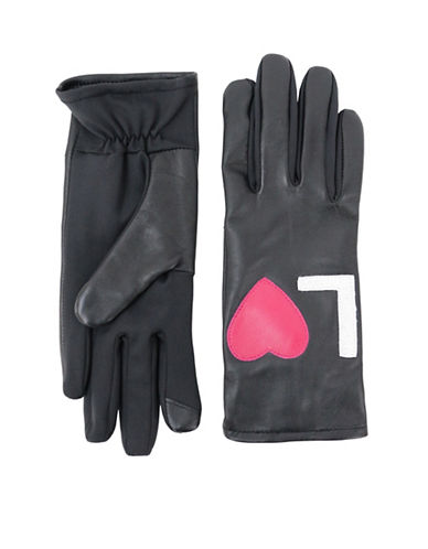 Lord & Taylor Love Gloves-BLACK-Large/XLarge