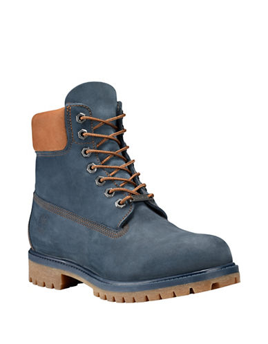Timberland Icon Premium Leather Ankle Boots-NAVY-7