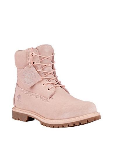 Timberland Premium Waterproof Leather Boots-ROSE-5.5