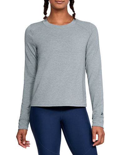 Under Armour Modal Terry Crew Sweatshirt-GREY-Small 89983204_GREY_Small