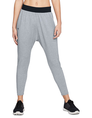 Under Armour Tapered Slouch Pants-GREY-X-Large