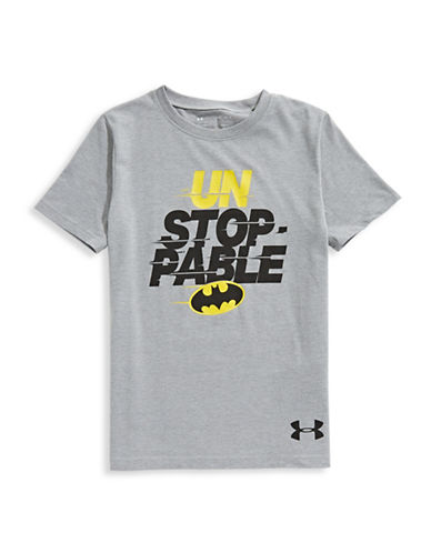 Under Armour Unstoppable Short-Sleeve Tee-GREY-14-16