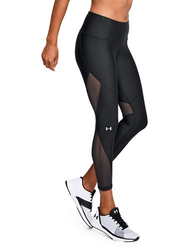 Under Armour HeatGear Armour Mesh Ankle Crop Leggings-BLACK-Medium 89983211_BLACK_Medium