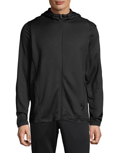 Under Armour Terry Full-Zip Hoodie-BLACK-Small