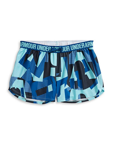 Under Armour Printed Play Up Shorts-TROPICAL TIDE-14-16