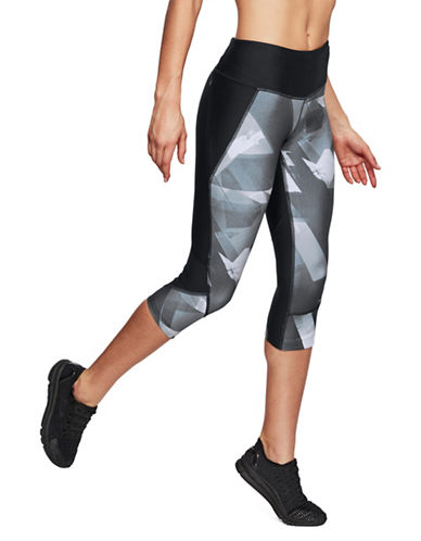 Under Armour Fly Fast Capri Leggings-BLACK/GREY-Large 89983225_BLACK/GREY_Large