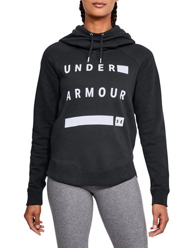 Under Armour Favourite Fleece Pullover Graphic Hoodie-BLACK-Large