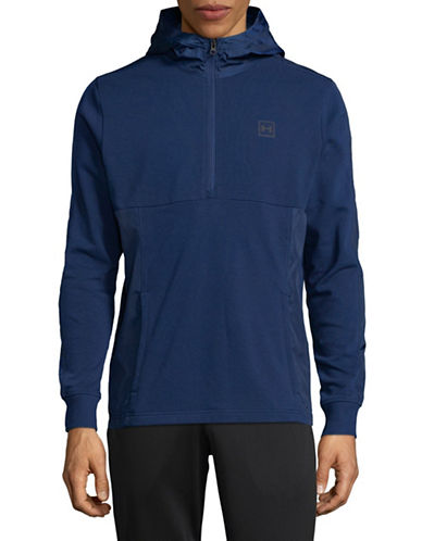 Under Armour Threadborne Terry Hoodie-BLUE-Large
