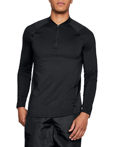 Under Armour Half Zip Sweater-BLACK-Small