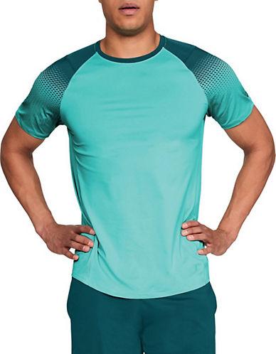 Under Armour Dash-Print Raglan-Sleeve T-Shirt-BLUE/TEAL-Small 90090414_BLUE/TEAL_Small