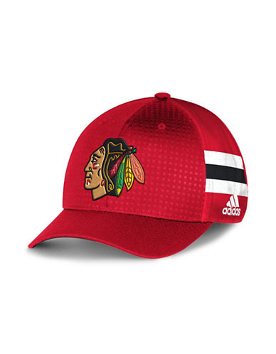 Adidas Chicago Blackhawks Official Draft Cap-RED-One Size