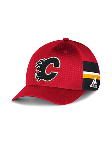 Adidas Calgary Flames Official Draft Cap-RED-One Size