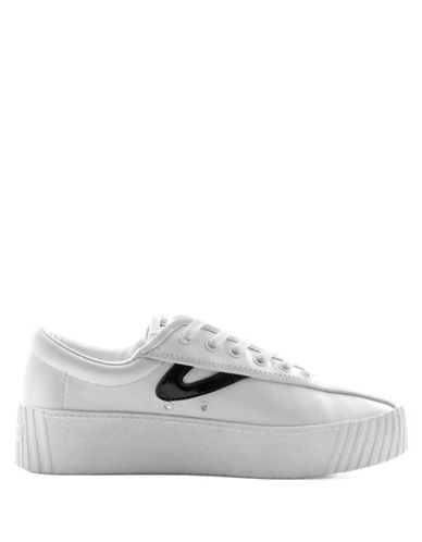 Tretorn Nylite Leather Lace-Up Sneaker-WHITE-10