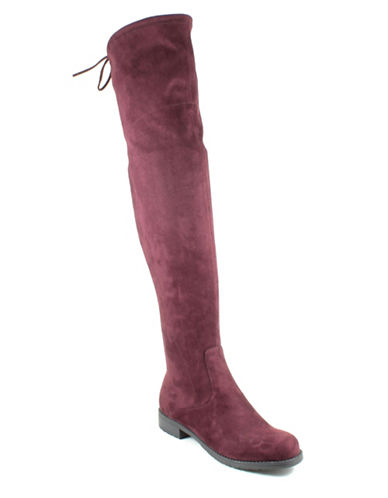 Unisa Huhvana Over-the-Knee Boots-DARK RED-7.5
