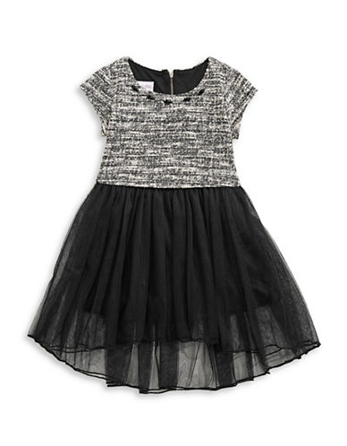 Iris & Ivy Popover Waist Dress-BLACK-3T