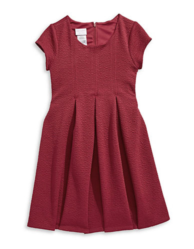 Iris & Ivy Short Sleeve Release Dress-RED-12