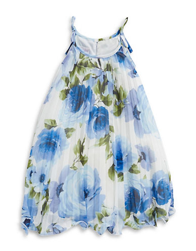 Iris & Ivy Floral-Print Strappy Dress-BLUE-4T