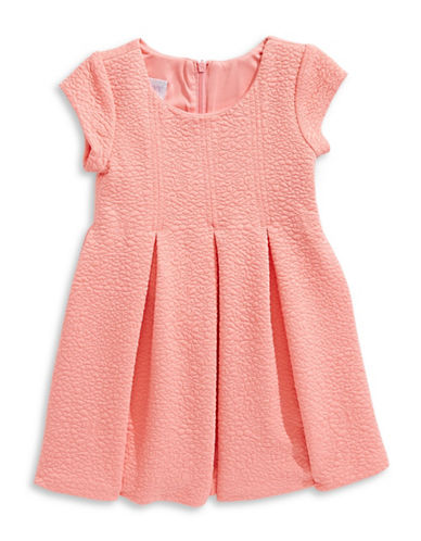 Iris & Ivy Cap-Sleeve Jacquard Dress-PINK-5