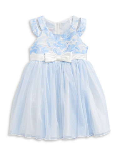 Iris & Ivy Metallic Floral Dress-BLUE-3T
