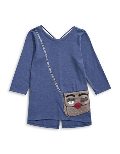 Jessica Simpson Handbag Applique Top-BLUE-X-Large