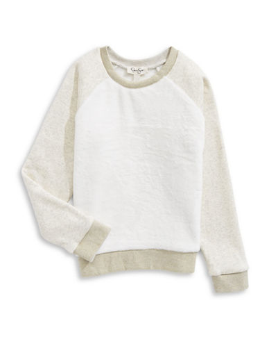 Jessica Simpson Fleece Pullover-WHITE-Large 89640046_WHITE_Large