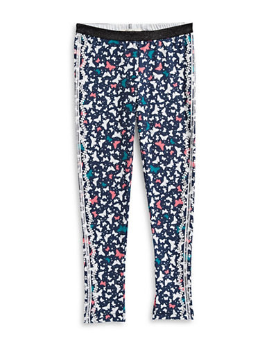 Jessica Simpson Olive Butterfly Printed Leggings-BLUE-X-Large